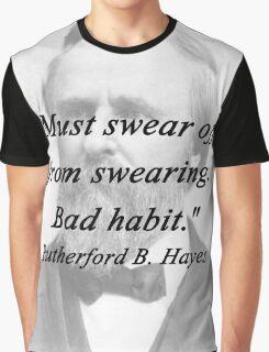 Hayes - Swearing Graphic T-Shirt