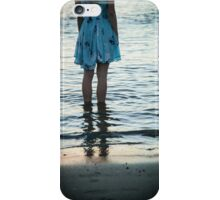 young woman in the beach at sunset iPhone Case/Skin