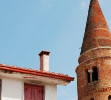 Caorle Belltower and Foreground Buildings Sticker