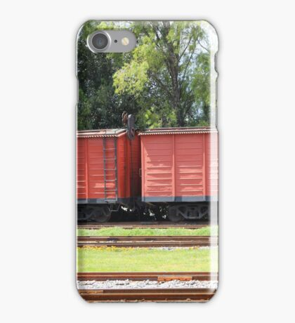 Box Cars in a Rail Yard iPhone Case/Skin