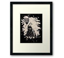 Walther von der Vogelweide creme white bleached Framed Print