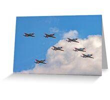 Team Orlik 7-ship arrow formation Greeting Card
