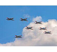 Team Orlik 7-ship arrow formation Photographic Print