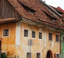 Historic Buildings in Skofja Loka 4 Sticker