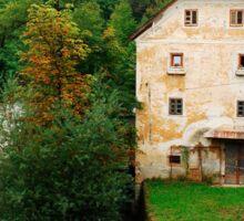 Historic Building in Skofja Loka 6 Sticker