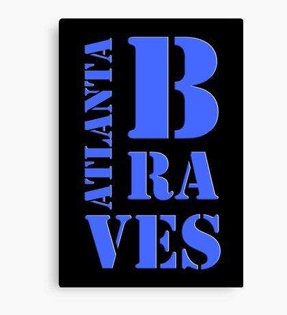 Atlanta Braves Typography Canvas Print