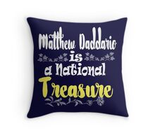 MATT IS A NATIONAL TREASURE Throw Pillow