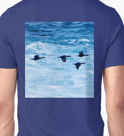 Cormorants  Skimming the Waves off Inishmore T-Shirt