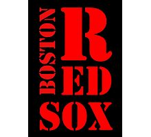 Boston Red Sox Typography Photographic Print