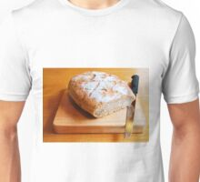 Sourdough on Chopping Board with Knife  Unisex T-Shirt