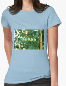 Green Tomatoes on the Vine Womens Fitted T-Shirt