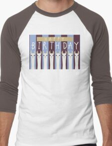 HAPPY BIRTHDAY LLAMAS Men's Baseball ¾ T-Shirt