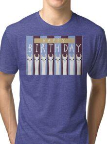 HAPPY BIRTHDAY LLAMAS Tri-blend T-Shirt
