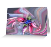 Swirling abstract flower Greeting Card