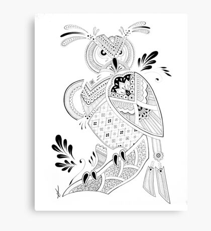 Paisley Eagle Owl Canvas Print