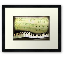 warped piano, a musical joke Framed Print