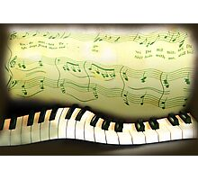 warped piano, a musical joke Photographic Print