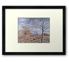 Alfred Sisley - Banks of the Loing - Autumn Effect Impressionism  Landscape  Framed Print