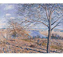Alfred Sisley - Banks of the Loing - Autumn Effect Impressionism  Landscape  Photographic Print