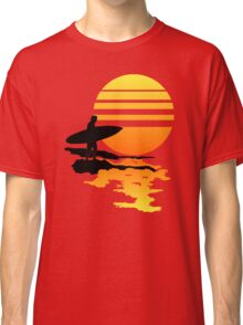 Surfing Sunrise Classic T-Shirt