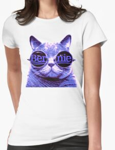 Solo Purple Cat 4 Bernie Womens Fitted T-Shirt