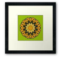 Black-eyed Susans, Floral mandala-style, Flower Mandala Framed Print