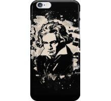 Ludwig Van Beethoven Tribute (creme white) iPhone Case/Skin