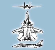 JET, FIGHTER, Aircraft, American, Grumman, F-14, Tomcat, DRAWING, supersonic, twin-engine, two-seat, variable-sweep wing,  Kids Tee