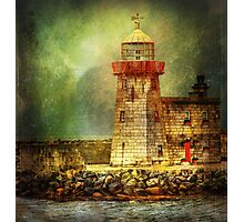 Lighthouse with stormy weather Photographic Print