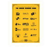 The Awards of The Award Winning Game Gold Tee/Yellow Poster Art Print