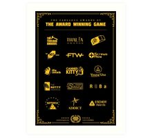 The Awards of The Award Winning Game Black Tee/Poster Art Print