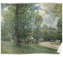 Alfred Sisley - Cows in Pasture, Louveciennes 1874  Impressionism  Landscape  Poster