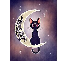 I love you to the moon & back (remix) Photographic Print