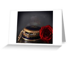 still life with red rose Greeting Card