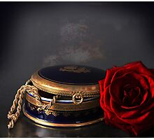 still life with red rose Photographic Print