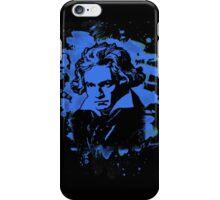 Ludwig Van Beethoven Tribute (blue) iPhone Case/Skin