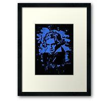 Ludwig Van Beethoven Tribute (blue) Framed Print