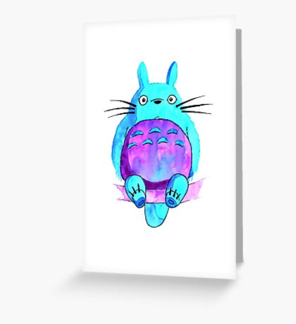 My neighbor Totoro in indigo shades Greeting Card