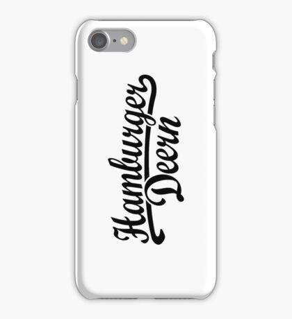 Hamburger Deern Classic (Schwarz) iPhone Case/Skin