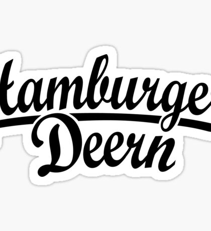 Hamburger Deern Classic (Schwarz) Sticker