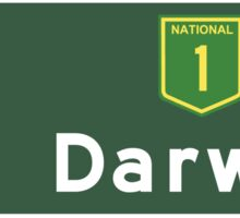 Darwin, Road Sign, Australia Sticker