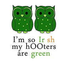 1 Green Hooters St Patty's Day Photographic Print