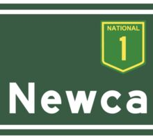 Newcastle, Road Sign, Australia Sticker