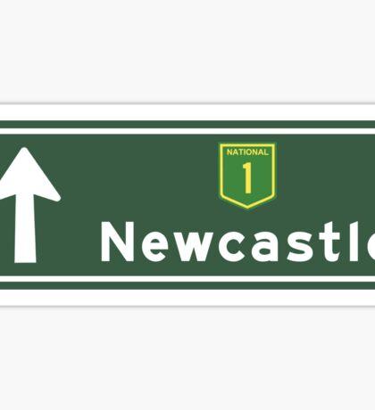 Newcastle, Road Sign, Australia Sticker