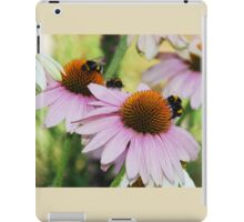 Echinacea Purpurea with Bees  iPad Case/Skin