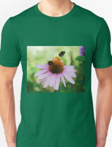 Echinacea Purpurea with Bees  Unisex T-Shirt