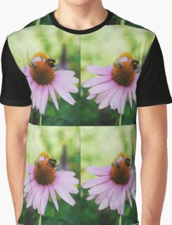 Echinacea Purpurea with Bees  Graphic T-Shirt