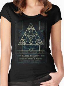 SACRED GEOMETRY METATRON MATRIX Women's Fitted Scoop T-Shirt