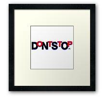 DontStop Design - Red Framed Print