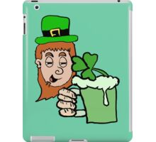 Drunk Leprechaun Cartoon iPad Case/Skin